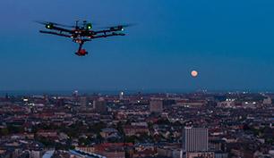 RVV efterser fjernvarmenettet fra luften ved hjælp af en drone